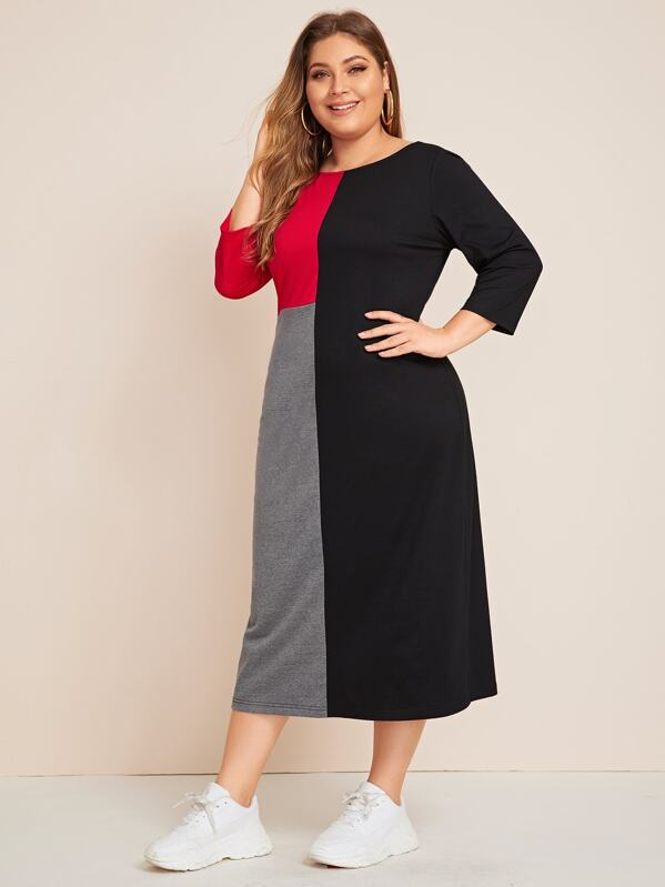 Plus Size Cut And Sew Tee Dress