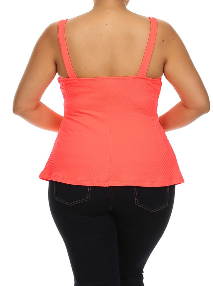 Plus Size Sexy Flare Coral Top