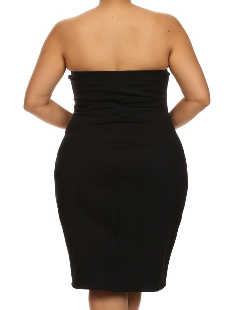 Plus Size Love Spell Plunging Neckline Black Dress