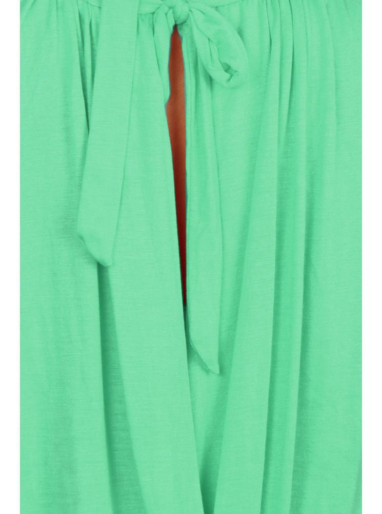 Plus Size Surplice Wrapped Mint Blouse