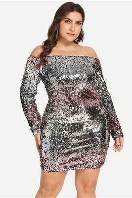 6dcb58c96bc1 Plus Size Racer-back Sparkling Sequin Jumpsuit – slayboo