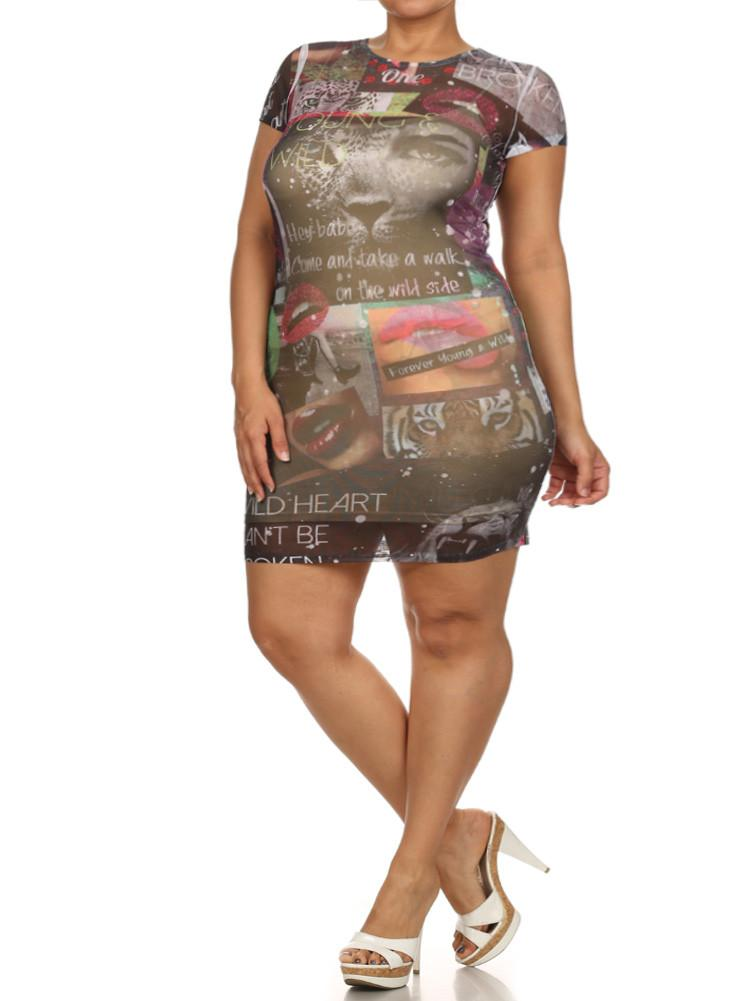 a6e6173bb91 Plus Size Forever Young And Wild Graphic Print Dress – slayboo