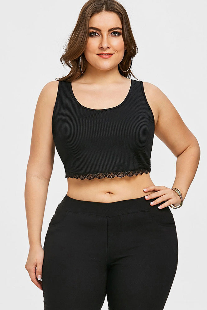 57176511770f9 Plus Size Sexy Butterfly Black Lace Camisole Top