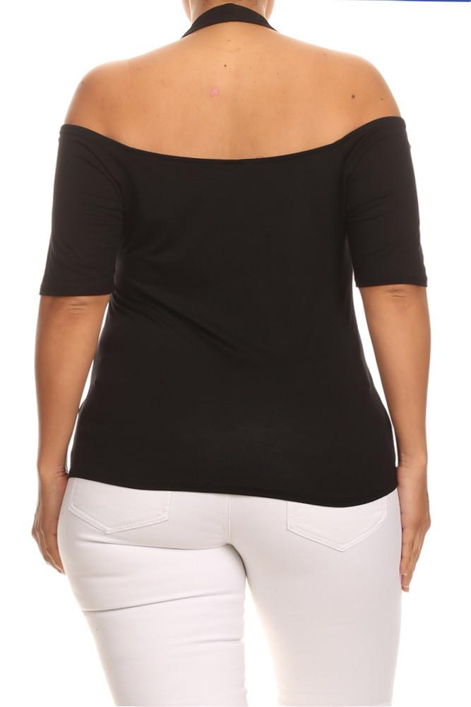 Plus Size Cold Shoulder Babe Top