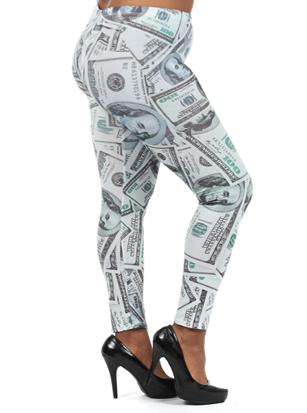 Plus Size Million Dollar Baby Leggings