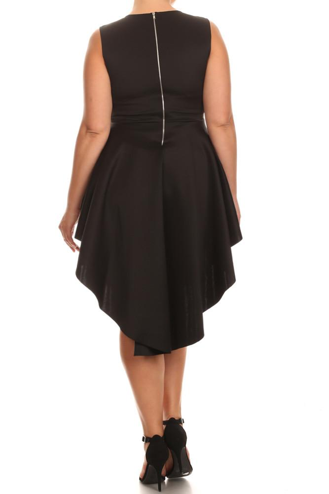 Plus Size For Love Layered Peplum Dress
