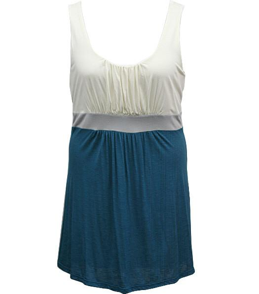 Plus Size Simple Elegant Cute Blue Tank