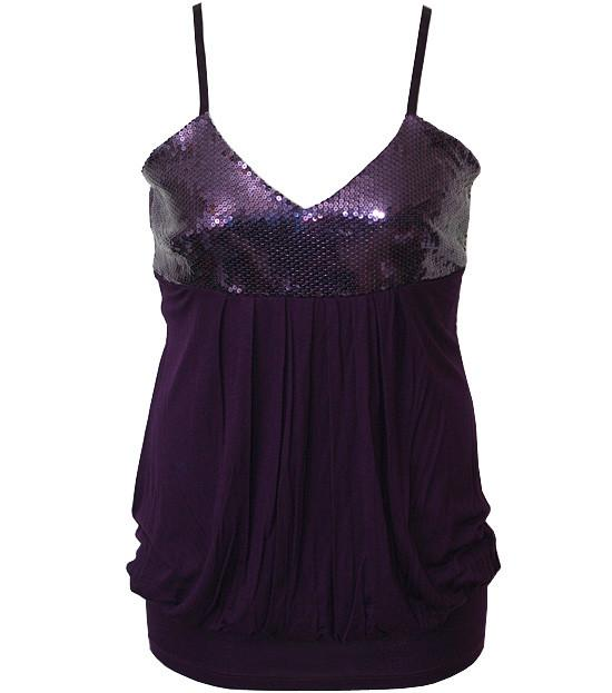 Plus Size Bubble Sparkling Purple Tank Top