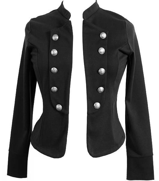 Plus Size Cadet Button Trendy Jacket