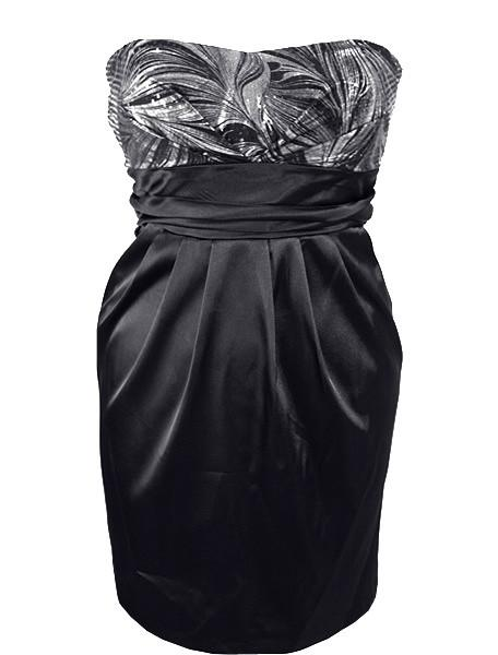 Plus Size Sparking Trendy Silver Tube Dress