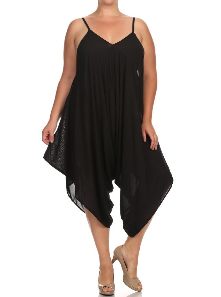 Plus Size Summer Love Black Playsuit