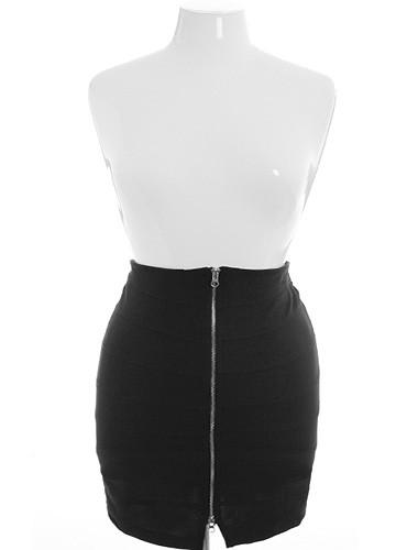Plus Size Sexy Zipper Skirt