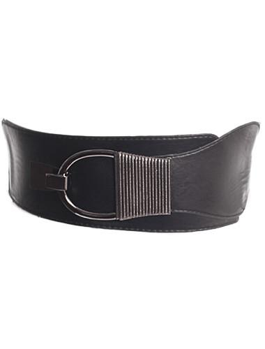 Plus Size Metal Buckle Stretchy Belt