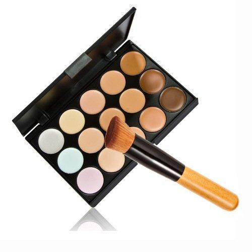 15 Colours Contour Palette + Concealer Brush