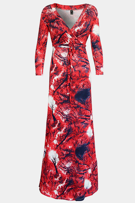 Plus Size Lovely Paint Strokes Maxi Dress