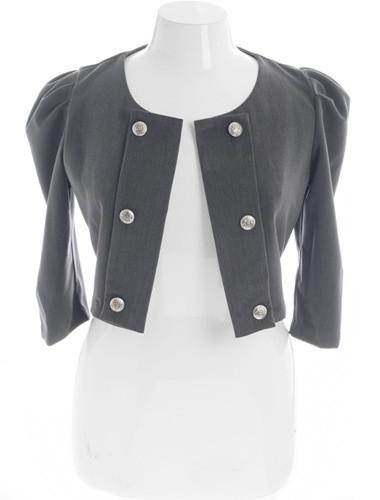 Plus Size Bold Shoulder Cadet Grey Jacket
