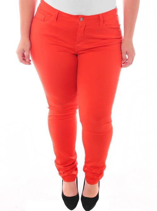 Plus Size Stretchy Premium Orange Skinny Pants
