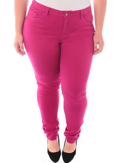 Plus Size Soft Premium Colored Pink Skinny Jeans