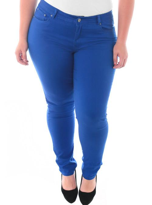 Plus Size Stretchy Premium Blue Skinny Pants