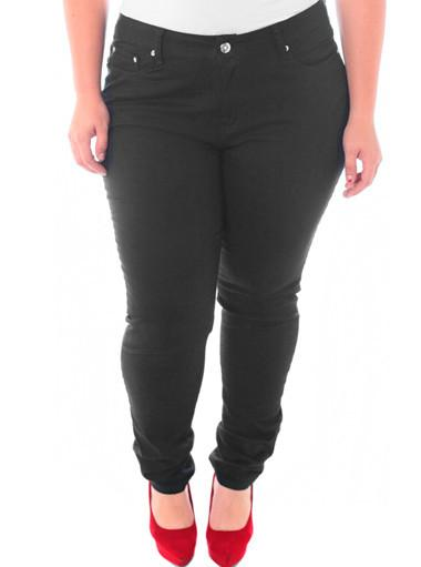 Plus Size Diamonds Premium Black Skinny Jeans
