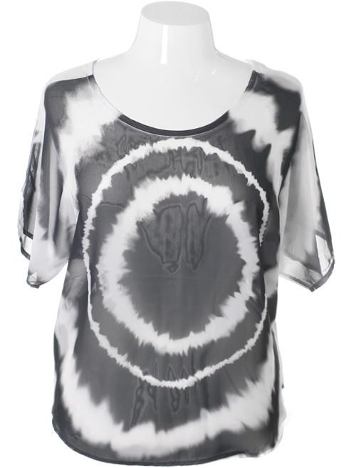 Plus Size Sexy Retro Tie Dye Tunic
