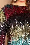 Plus Size Shine On You Bodycon Sequin Dress
