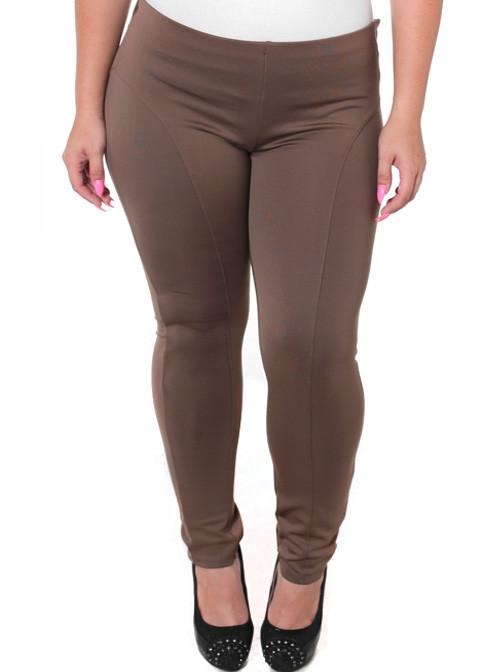 Plus Size Stretchy Soft Chocolate Skinny Pants