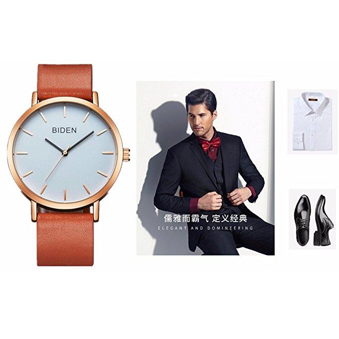 Unisex Super Light Casual Fashion Simple Analog Watch For Men/Women/Teens Leather Wrist Watch