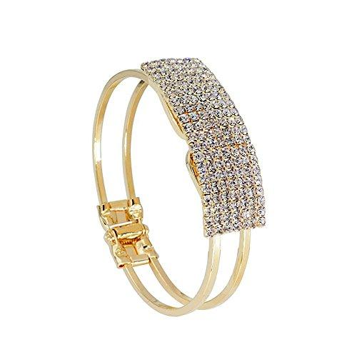 Women's Elegant Bangle Bracelet - Crystal Cuff Bling Gift