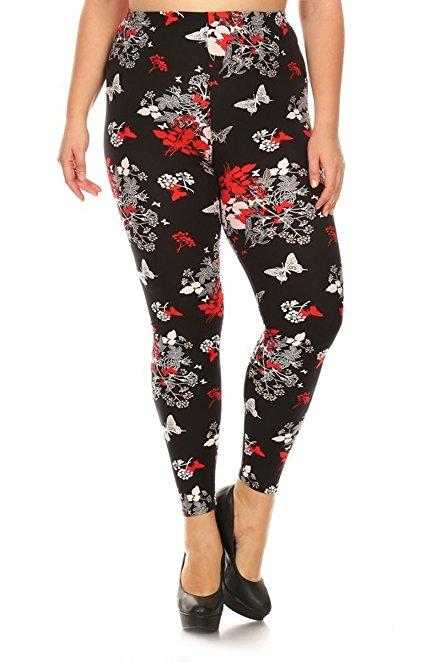 Plus Size Women Soft Superfemme Print Leggings