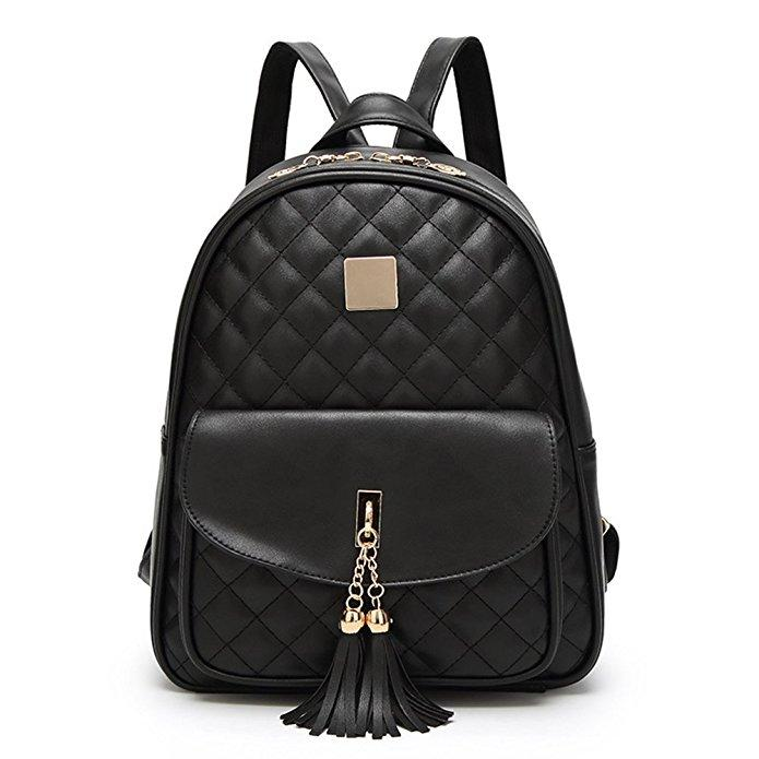 Quilted Faux Leather Backpack Wallet Set – slayboo : quilted faux leather backpack - Adamdwight.com