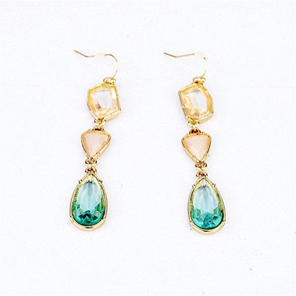 Swarovski Elements Crystal Waterdrop Shape Dangle Earrings for Women Christmas Gifts