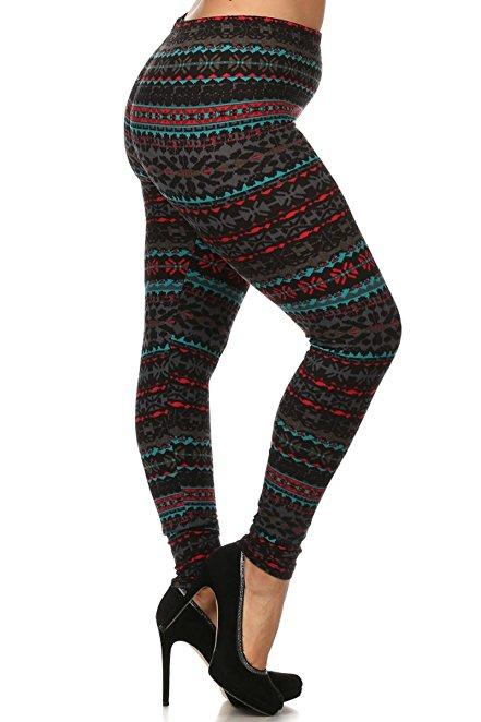 Plus Size Women Soft Midnight Print Leggings