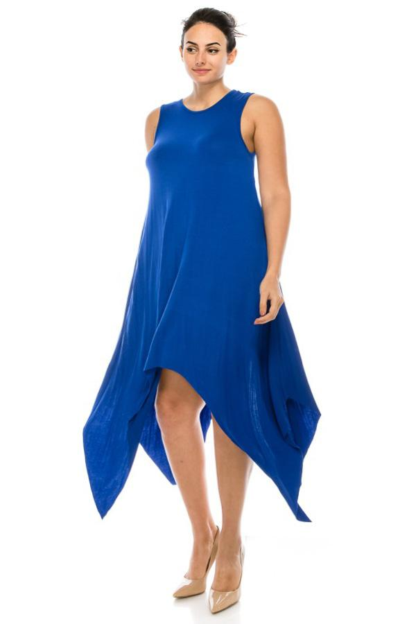Plus Size Comfortable Flare Sleeveless Dress