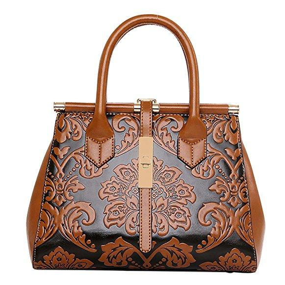 Women's Fashion Chinese Style Elegant Empaistic Top Handle Shoulder Bag