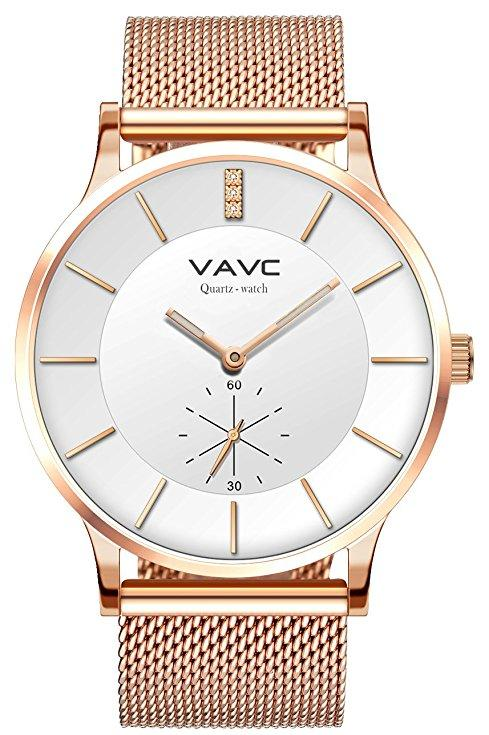 Women's Rose Gold Fashion Quartz Mesh Band Watch