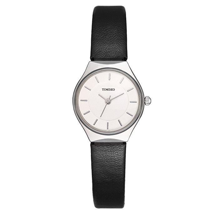 Women Fashion Simple Ultra-Thin Retro Leather Strap Ladies Watch