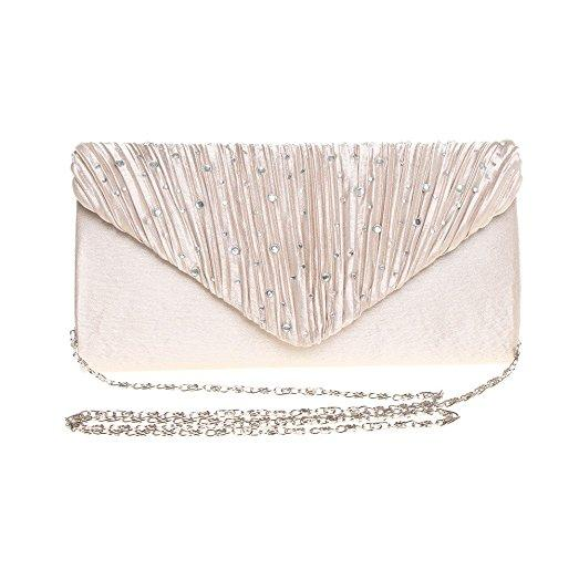 Womens Rhinestone Bridal Purse Clutch For Wedding And Party