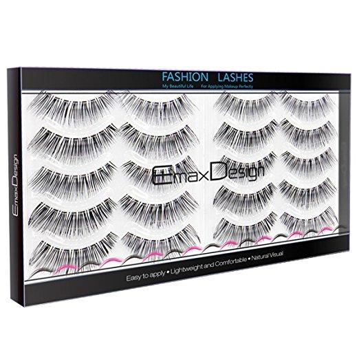 Natural Beauty Fake Eyelashes Set 10 Pairs