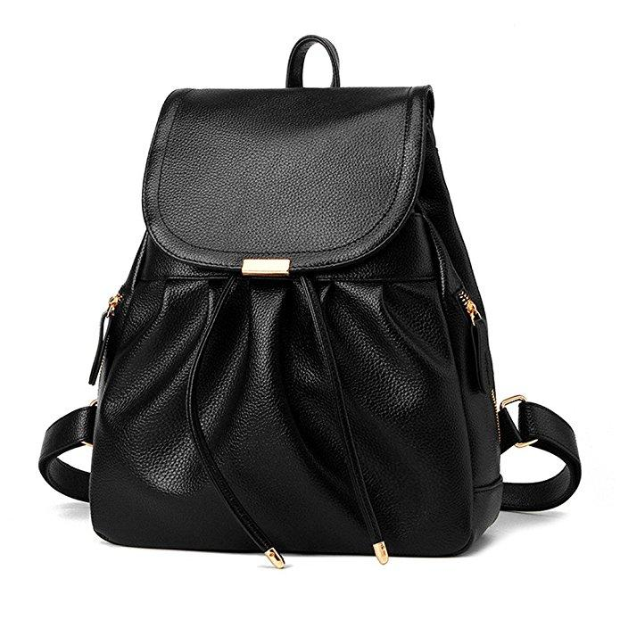 Faux Leather Scrunch Mini Backpack