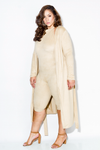 Plus Size Suede Robe Matching Sets