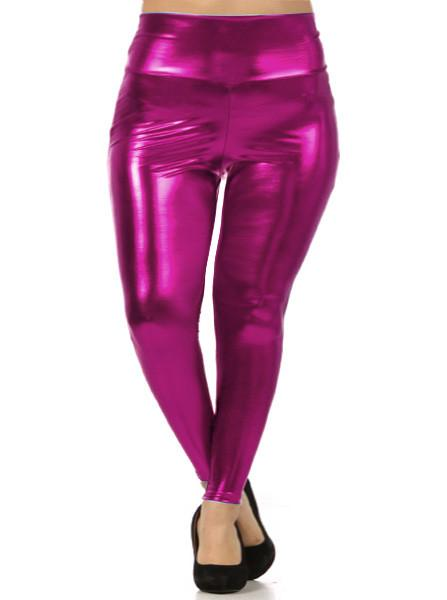 Plus Size Shine Bright High Waist Pink Leggings