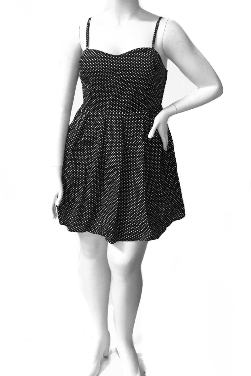 Plus Size Polka Dot Comfortable Strap Dress