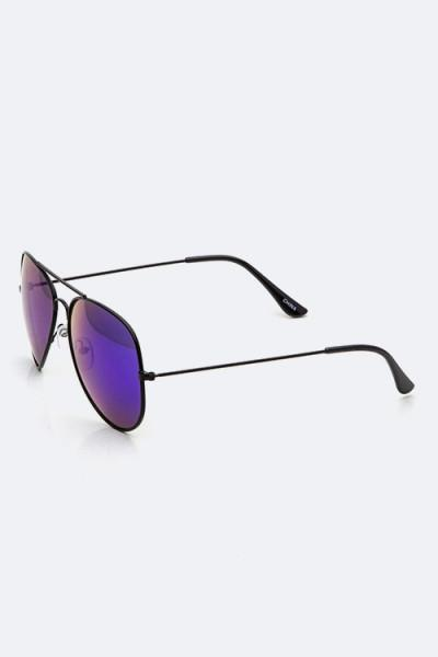 Trendsetter Mirror Tinted Aviator Black/Green Sunglasses