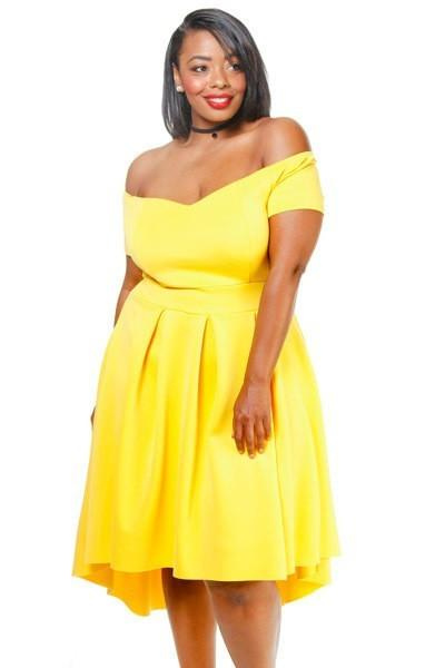 Plus Size Off Shoulder Sweetheart Neckline Dress Sale Slayboo