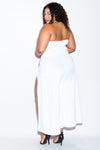 Plus Size Double Slit Jumpsuit