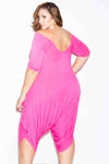 Plus Size Draped Jumpsuit