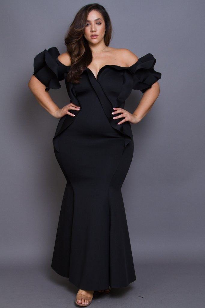 c0874437d8dfe Plus Size Red Carpet Cocktail Maxi Dress – slayboo