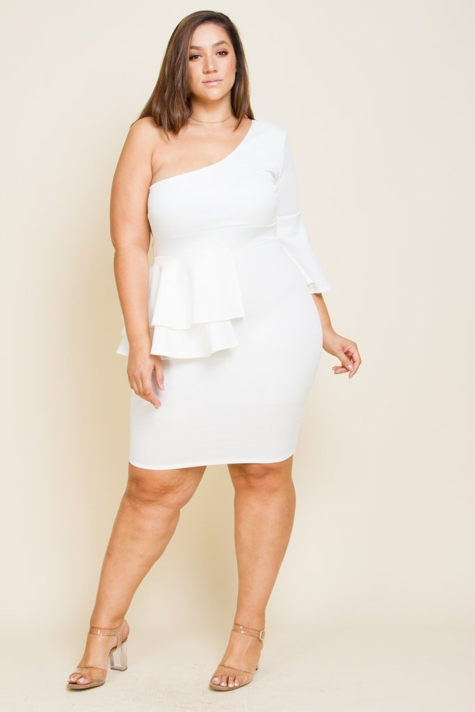 Plus Size Bell Sleeve Midi Dress