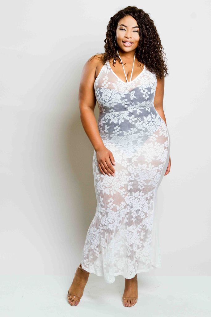 Plus Size Sexy Lacey Maxi Dress